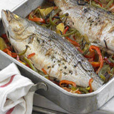 Whole Roasted Fish Basquaise Recipe