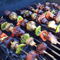 Skewered Five Spice Pork (Oamc) With Vegetables