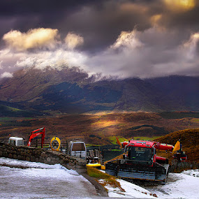 by Stephen Hooton - Landscapes Weather ( scotland, snow, places, print )