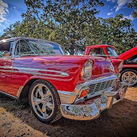 Red Wagon by Ron Meyers - Transportation Automobiles