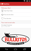 Screenshot of Bullritos Ordering