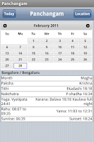 Screenshot of World Panchangam