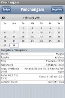 Screenshot of World Panchangam