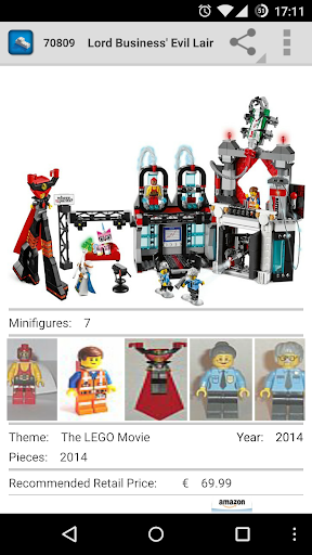 MeLikeyBricks: LEGO database - screenshot