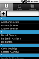Screenshot of Contacts Plus