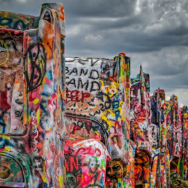 Cadillac Ranch by Ron Meyers - Transportation Automobiles