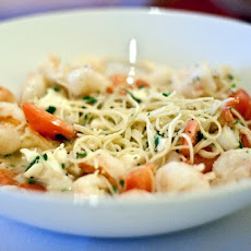 Shrimp and Feta with Angel Hair