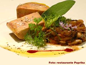 Terrina de foie, setas de temporada, ensalada de anisados