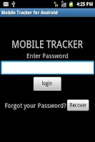 Screenshot of Mobile Tracker for Android