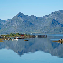 by Bente Agerup - Landscapes Mountains & Hills ( mountains, nature, lakes, lofoten, norway )