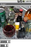 Screenshot of alcohol test