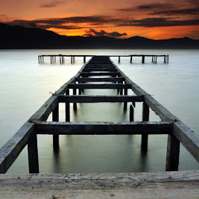 Taipa Pier At The Twilight by Hajar Wisnu Dwiputra - Landscapes Sunsets & Sunrises