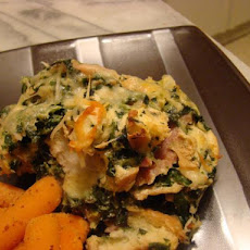 Midwestern Spinach & Cheese Savoury Bread Pudding
