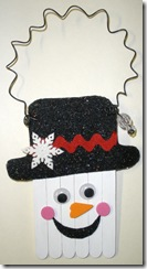 popsicle snowman ornament or decoration