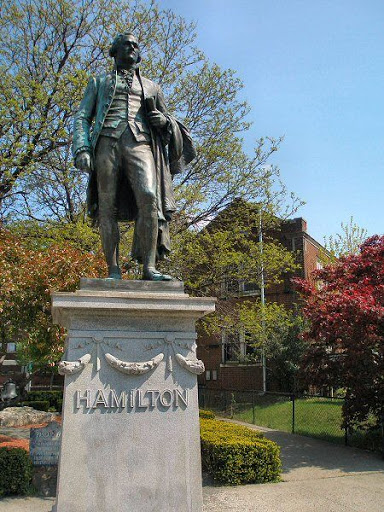 GFHmStat This statue honors Alexander Hamilton, the man who conceived of the Great ...