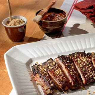 Oven-Roasted Ribs with Chipotle-Molasses Barbecue Sauce