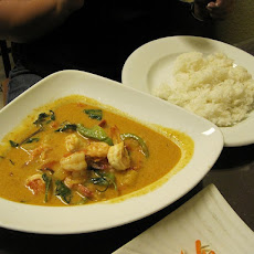 Thai Shrimp Curry with Chopped Lettuce and Basil-Lime Couscous