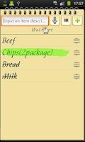 Screenshot of Shopping List+