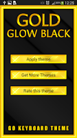 Screenshot of Gold Glow Black Keyboard Theme