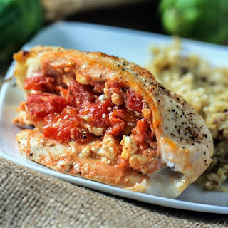 Tomato and Feta Stuffed Chicken Breasts