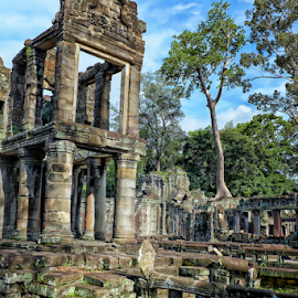 Sacred Temple Preah Khan by Ferdinand Ludo - Buildings & Architecture Places of Worship ( preah khan, buddhist sanctuary complicated by hindu satellite temples, near angkor, siem reap )