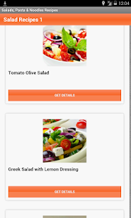 Salads, Pasta & Noodles Recipe - screenshot