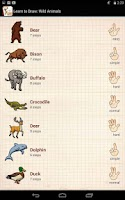 Screenshot of Learn to Draw Wild Animals