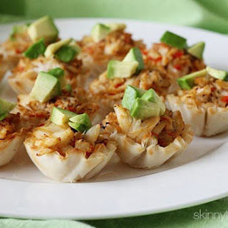 Crab and Avocado Phyllo Bites