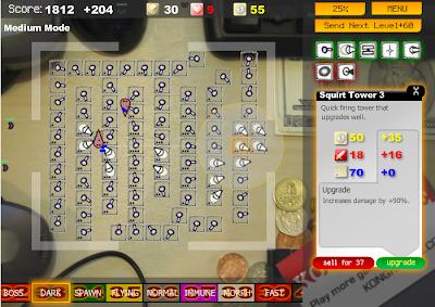 【防衛ゲーム】「Desktop Tower Defense」机の上で敵を砲台でやっつける。