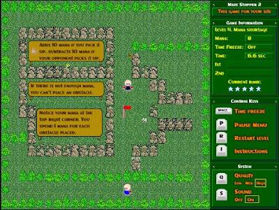 【パズル】敵の邪魔をしてゴールを目指すゲーム「Maze Stopper 2」