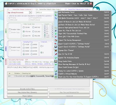 画面右クリックで色々なメニューが出てきて操作が出来ます。