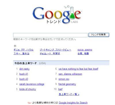 「Google トレンド」Google Trendが日本語対応に