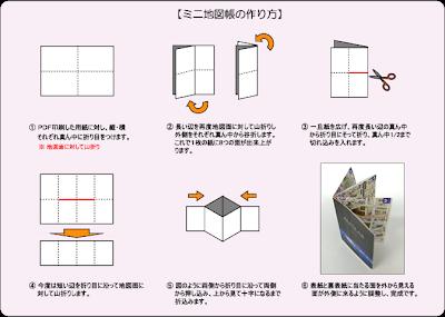 「ALPSLAB print」A4の紙一枚でミニ地図帳が作れる