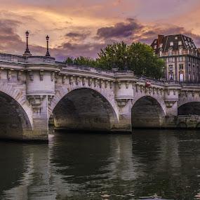 Les Ponts de Paris by Serge Thonon - City,  Street & Park  Street Scenes ( paris'éveil )