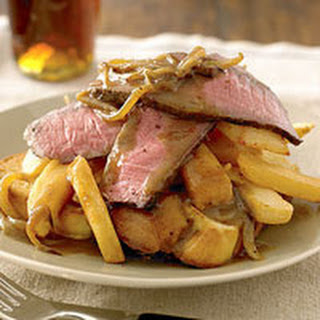 Open-Faced Steak-and-Fries Sandwiches