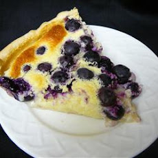 Lemon Blueberry Custard Pie