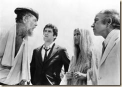 Sterling Hayden, Elliott Gould, Nina van Pallandt and Henry Gibson