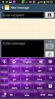 Screenshot of GO Keyboard Purple Sparkle