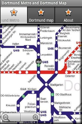 多特蒙德地铁运行图 多特蒙德地图