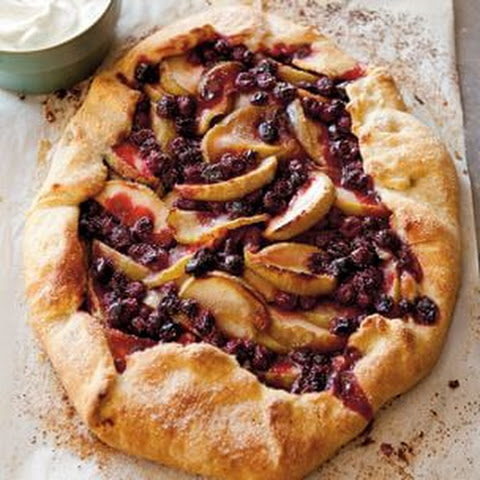 Apple and Cranberry Galette