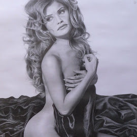 Helena by Kile Zabala - Drawing All Drawing ( charcoal, grafito, dibujo, retrato )