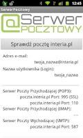 Screenshot of SerwerPocztowy