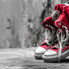 Shoes by Angelo Pereira - Artistic Objects Clothing & Accessories ( pwc, selective color,  )
