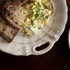 Herb Cream Cheese Scrambled Eggs