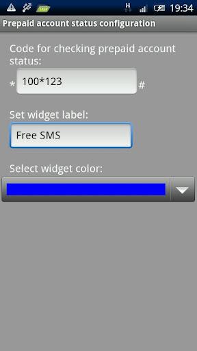 Prepaid status widget