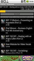 Screenshot of PodCat