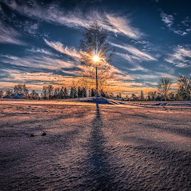 Askim, Norway 112 by IP Maesstro - Landscapes Sunsets & Sunrises ( winter, ip maesstro, hdr, sunset, snow, sunrise, landscape, sun, norway )