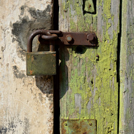 The colours of time by The Man in the Maze - Artistic Objects Other Objects ( time, green, lock, door, rust )