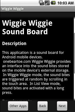 Wiggie Wiggie Sound Board - M