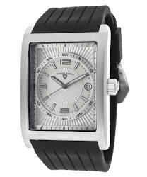 Swiss Legend Men's Limousine Silver Dial Black Textured Silicone SL-40012-02S Watch